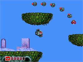 In game image of Barunba on the NEC PC Engine.