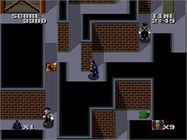 In game image of Batman: The Video Game on the NEC PC Engine.