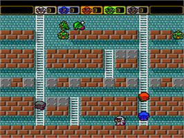 In game image of Battle Lode Runner on the NEC PC Engine.