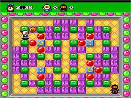 In game image of Bomberman '93 on the NEC PC Engine.