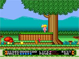 In game image of Fushigi no Yume no Alice on the NEC PC Engine.
