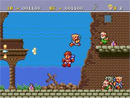 In game image of Legend of Hero Tonma on the NEC PC Engine.