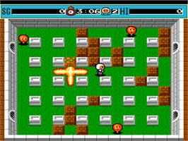 In game image of Mega Bomberman on the NEC PC Engine.