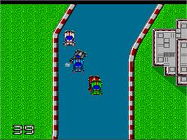 In game image of Moto Roader on the NEC PC Engine.