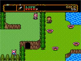 In game image of Neutopia II on the NEC PC Engine.