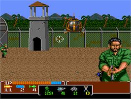 In game image of Operation Wolf on the NEC PC Engine.