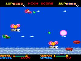 In game image of Ordyne on the NEC PC Engine.