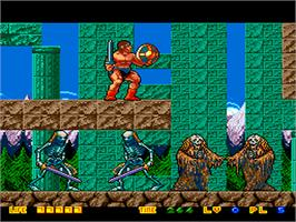In game image of Rastan Saga 2 on the NEC PC Engine.