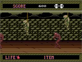 In game image of Splatterhouse on the NEC PC Engine.