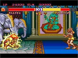 In game image of Street Fighter II': Special Champion Edition on the NEC PC Engine.