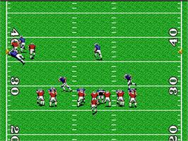 In game image of TV Sports: Football on the NEC PC Engine.
