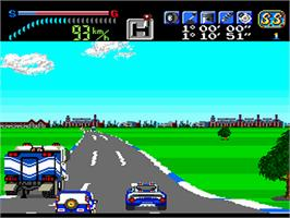 In game image of Victory Run on the NEC PC Engine.
