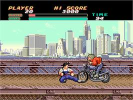 In game image of Vigilante on the NEC PC Engine.