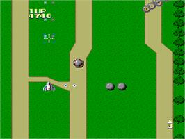 In game image of Xevious: Fardraut Saga on the NEC PC Engine.
