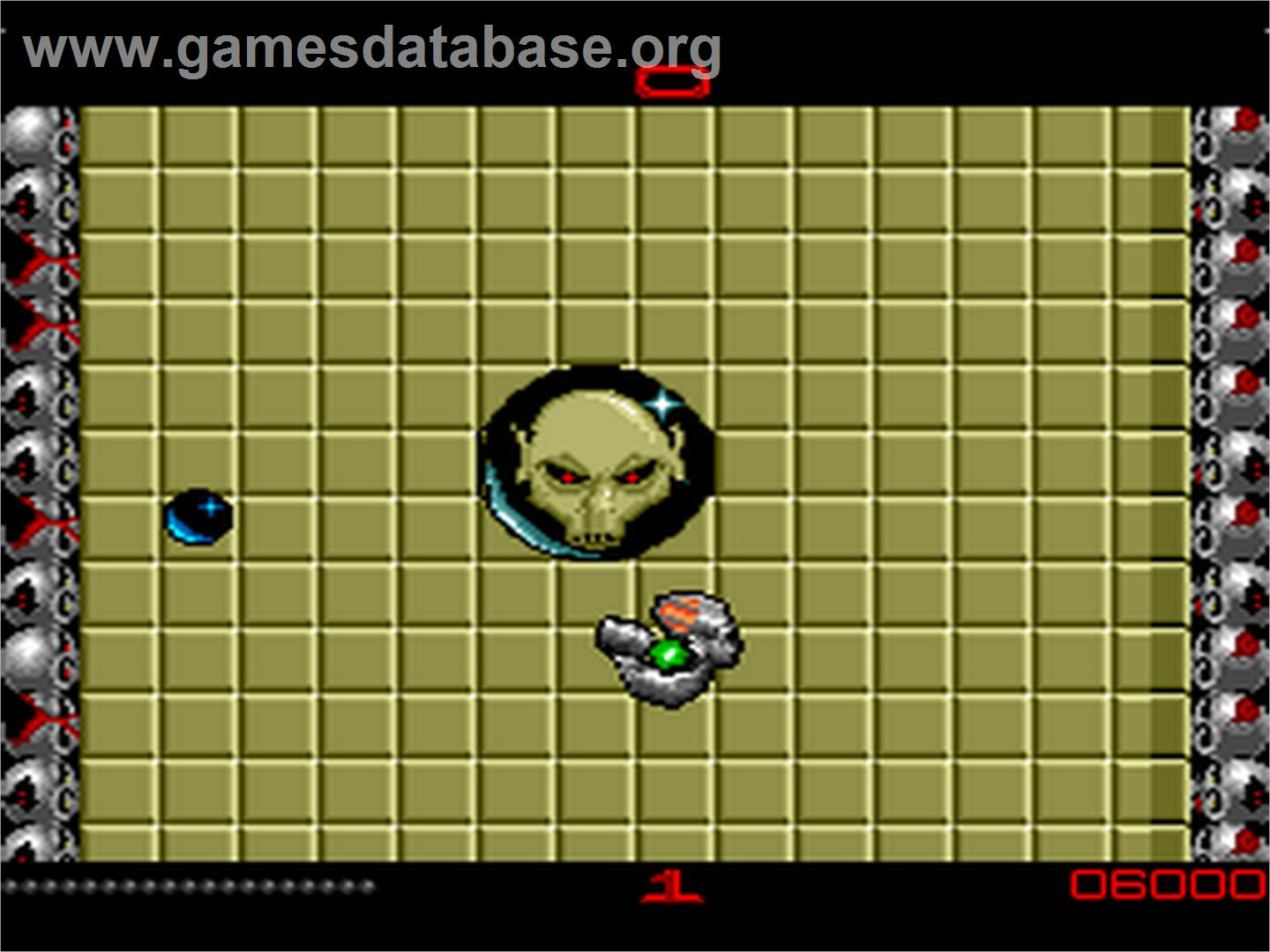 In game image of Ballistix on the NEC PC Engine.