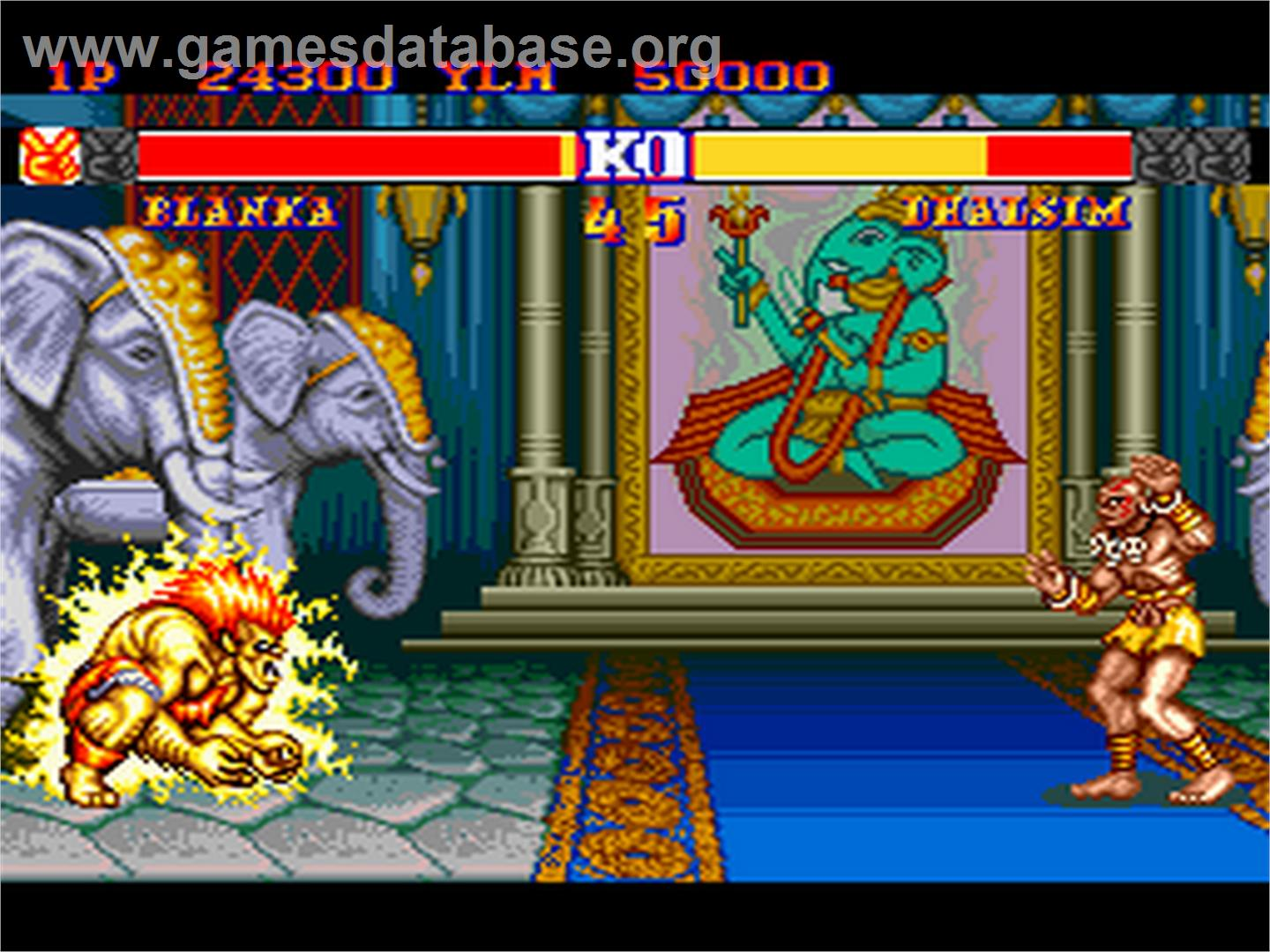 of Street Fighter II': Special Champion Edition on the NEC PC Engine