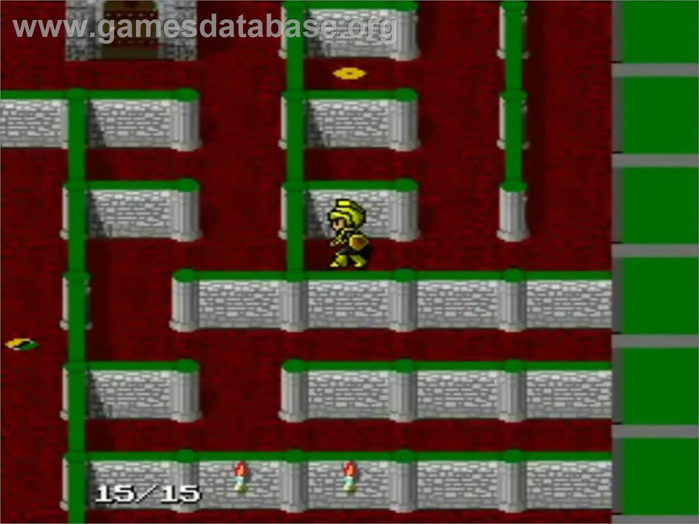 In game image of The Tower of Druaga on the NEC PC Engine.