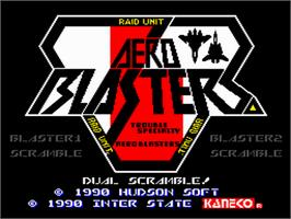 Title screen of Air Buster on the NEC PC Engine.