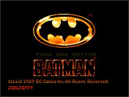Title screen of Batman: The Video Game on the NEC PC Engine.