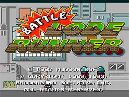 Title screen of Battle Lode Runner on the NEC PC Engine.