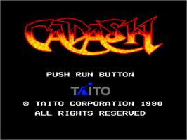 Title screen of Cadash on the NEC PC Engine.
