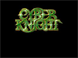 Title screen of Cyber Knight on the NEC PC Engine.