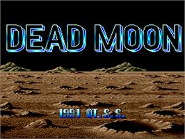 Title screen of Dead Moon on the NEC PC Engine.