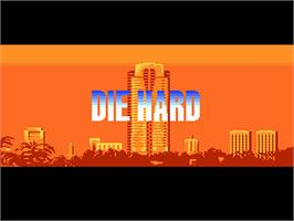 Title screen of Die Hard on the NEC PC Engine.