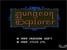 Title screen of Dungeon Explorer on the NEC PC Engine.