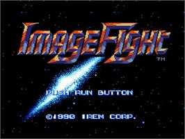 Title screen of Image Fight on the NEC PC Engine.