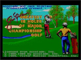 Title screen of Jack Nicklaus' Greatest 18 Holes of Major Championship Golf on the NEC PC Engine.
