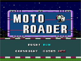 Title screen of Moto Roader on the NEC PC Engine.
