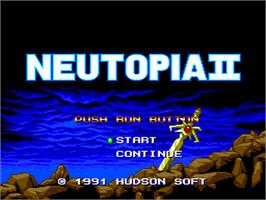 Title screen of Neutopia II on the NEC PC Engine.