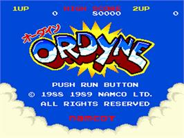 Title screen of Ordyne on the NEC PC Engine.