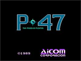 Title screen of P-47 Thunderbolt: The Freedom Fighter on the NEC PC Engine.
