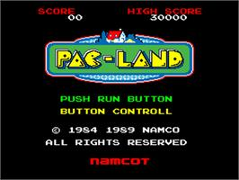 Title screen of Pac-Land on the NEC PC Engine.