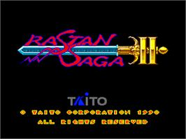 Title screen of Rastan Saga 2 on the NEC PC Engine.