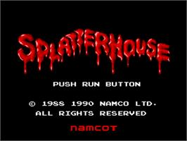 Title screen of Splatterhouse on the NEC PC Engine.