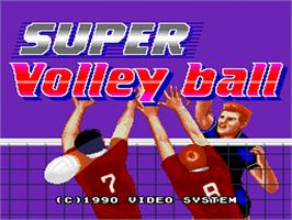 Title screen of Super Dodge Ball on the NEC PC Engine.
