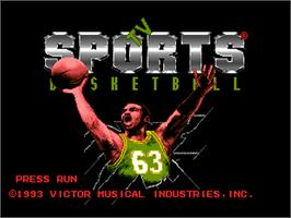 Title screen of TV Sports: Basketball on the NEC PC Engine.