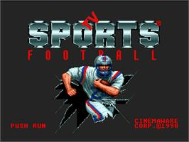 Title screen of TV Sports: Football on the NEC PC Engine.