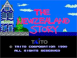 Title screen of The New Zealand Story on the NEC PC Engine.