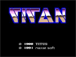 Title screen of Titan on the NEC PC Engine.