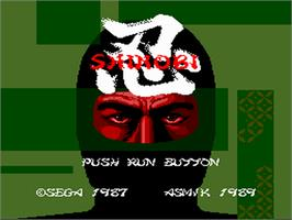 Title screen of Twin Cobra on the NEC PC Engine.