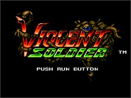 Title screen of Valis: The Fantasm Soldier on the NEC PC Engine.