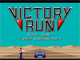 Title screen of Victory Run on the NEC PC Engine.
