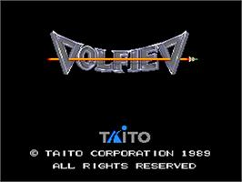 Title screen of Volfied on the NEC PC Engine.