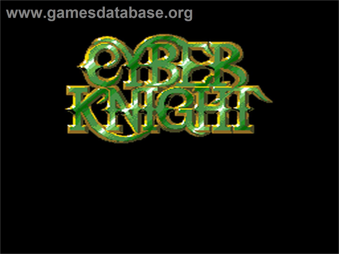 Cyber Knight - NEC PC Engine - Artwork - Title Screen
