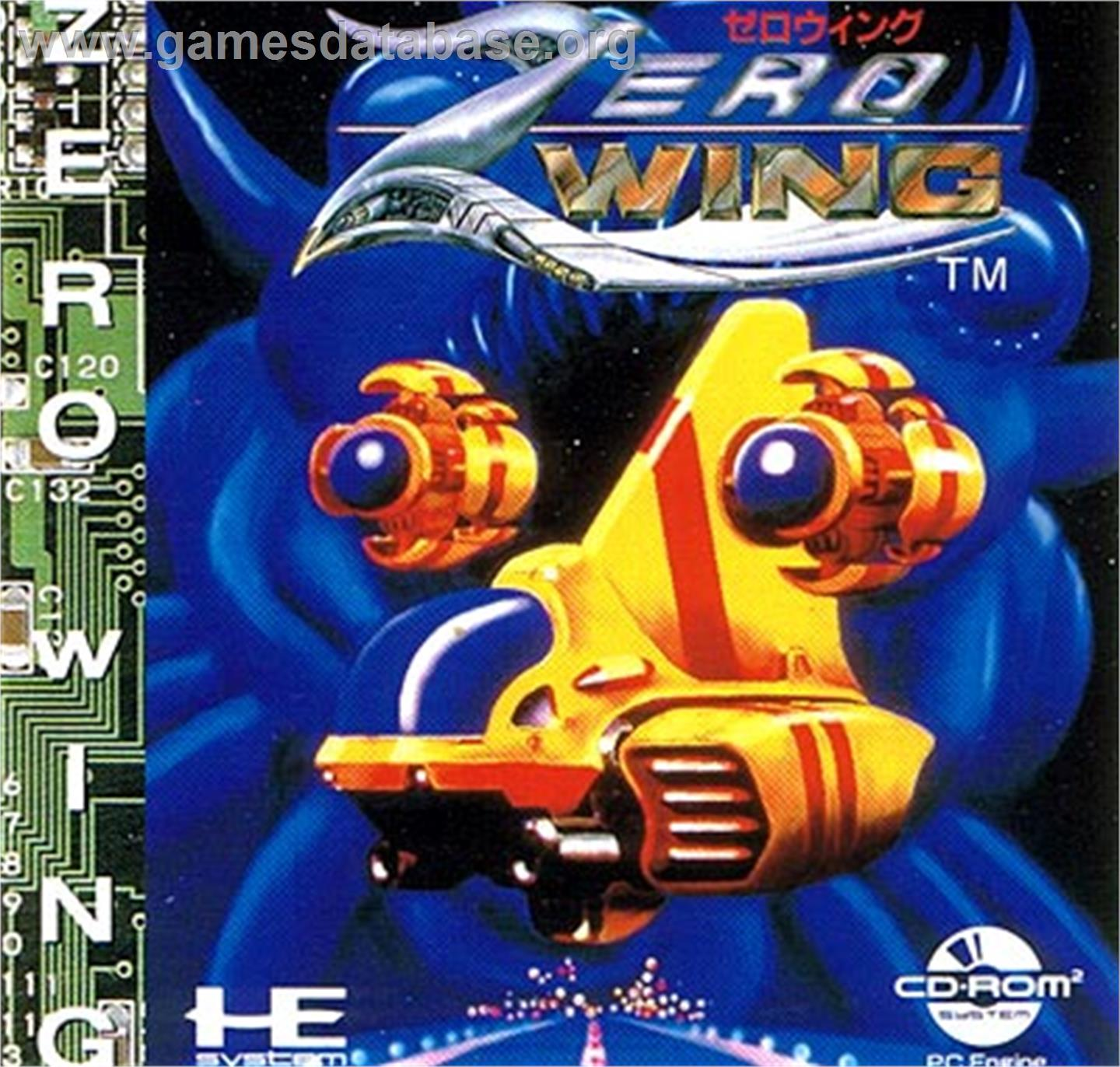 Box cover for Zero Wing on the NEC PC Engine CD.