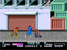 In game image of Double Dragon II - The Revenge on the NEC PC Engine CD.